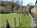 SN6479 : Vale of Rheidol Railway Approaching the Level Crossing at Capel Bangor by David Dixon
