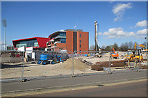SJ8195 : Old Trafford: a building site by John Sutton