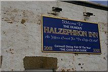 SW6522 : Halzephron Inn sign, Chyanvounder by Christopher Hilton