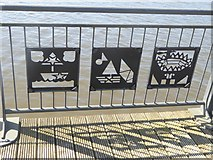 NZ3064 : Water front at Hebburn (detail) by Oliver Dixon