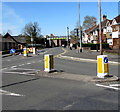 ST3387 : Pedestrian refuge in Liswerry Road, Newport by Jaggery