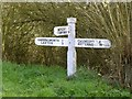 SP9197 : Fingerpost near Seaton by Alan Murray-Rust