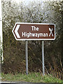 TM1155 : Roadsign on the A140 Norwich Road by Geographer