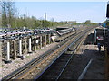TQ1185 : View from the end of the platform at South Ruislip Underground station by Marathon