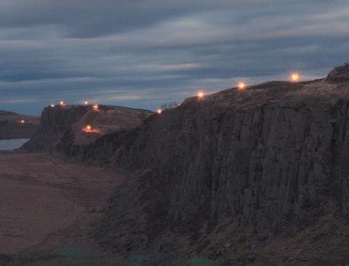 NY7567 : Beacons lit along Hadrian's Wall by Gary Dickson