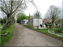 TQ2282 : Kensal Green Cemetery, mausolea by Mike Faherty