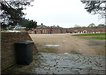 SU5902 : Fort Brockhurst - Looking into the courtyard by Rob Farrow