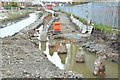 J3674 : Connswater path works, Belfast - April 2016(2) by Albert Bridge