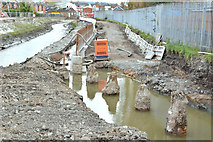 J3674 : Connswater path works, Belfast - April 2016(2) by Albert Bridge