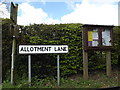 TM1854 : Allotment Lane sign & Ashbocking Village Notice Board by Adrian Cable