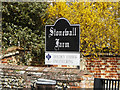 TM1554 : Stonewall Farm sign by Adrian Cable