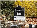 TM1554 : Stonewall Farm sign by Geographer
