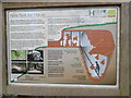 TQ8332 : Information board for the Hole Park Ice House by Marathon