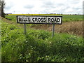 TM1552 : Bells Cross Road sign by Geographer