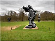 SE2812 : KAWS Sculptures at Yorkshire Sculpture Park by David Dixon