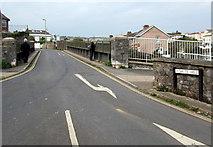 SX9473 : Shute Hill railway bridge, Teignmouth by Jaggery
