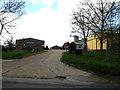 TM1551 : Footpath to Mill Lane & entrance to Walnut Tree Farm by Geographer