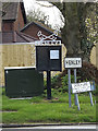TM1551 : Henley Village Name sign & Village Notice Board by Adrian Cable