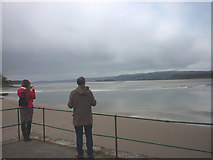 SD4578 : The bore approaches Arnside Pier by Karl and Ali