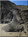 TG2639 : Debris flow at the base of the cliffs by Hugh Venables