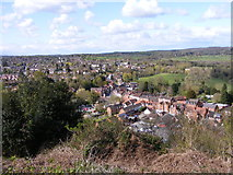 SO8483 : Looking down on Kinver by Gordon Griffiths