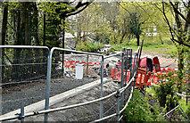 J3673 : Connswater path works, Belfast - April 2016(3) by Albert Bridge