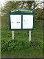 TM1451 : Barham Village Notice Board by Adrian Cable