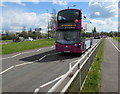 ST6178 : First double-decker bus, Station Road, Filton by Jaggery