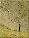 SO5977 : Photographer in Titterstone Clee quarry by Alan Murray-Rust