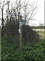 TM1251 : Footpath sign off Pesthouse Lane by Adrian Cable