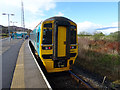 SN6998 : A coast bound train stands at Dovey Junction station by John Lucas