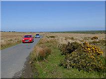 SS2620 : Traffic jam on Bursdon Moor, Devon by Roger  Kidd