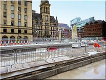 SJ8397 : St Peter's Square Tram Stop, April 2016 by David Dixon