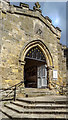 SE7984 : Entrance to the Parish Church of St Peter and St Paul, Pickering, Yorkshire by Christine Matthews