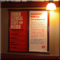 TQ1979 : Tube train notices by Ian Taylor
