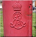TQ2792 : Cypher, Edward VII postbox on Friern Barnet Road by JThomas