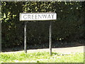 TL1513 : Greenway sign by Adrian Cable