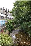 TQ3870 : Ravensbourne River from the Green Chain Walk bridge by Christopher Hilton