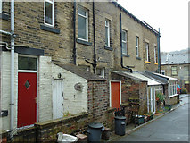 SD9927 : Oak Street (rear), Hebden Bridge by Carroll Pierce