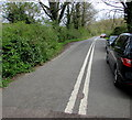 SP1037 : Double white lines on a dead-end road east of High Street, Broadway by Jaggery