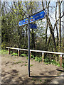 TL1215 : Footpath sign on The Nickey Line footpath by Adrian Cable