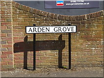 TL1314 : Arden Grove sign by Adrian Cable