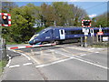 TR2363 : A Javelin leaves the level crossing at Grove Ferry by Marathon