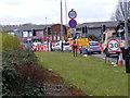 SO9496 : Bilston Road Works by Gordon Griffiths