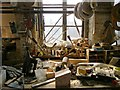 SK3586 : Work bench in The Portland Works, Sheffield by Neil Theasby