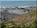 SS2117 : Rocky shoreline south of Welcombe Mouth, Devon by Roger  Kidd