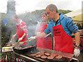 SP9612 : Friends of Aldbury School were running the Burger Stall by Chris Reynolds