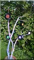 TQ3468 : South Norwood: the Sensible Garden, vinyl tree by Christopher Hilton
