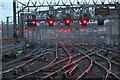 NS5864 : The railway tracks at the approach to Glasgow Central Train Station  by Garry Cornes