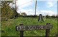 TM1852 : Ashbocking Road sign by Adrian Cable